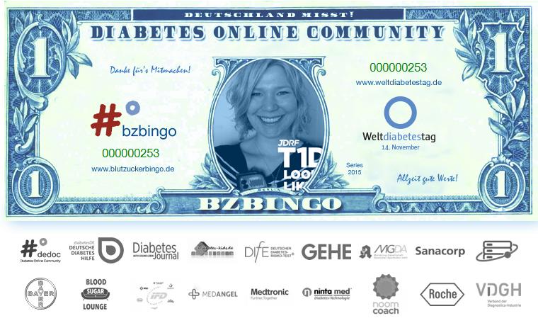 Weltdiabetestag – spiel doch mal Blutzuckerbingo!